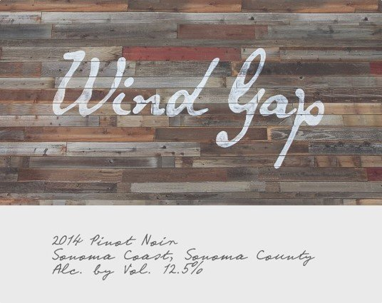 Wind Gap Pinot Noir Sonoma Coast 2014 | Expressive & Inviting | Pairs w/ Red & White Meats, Cheese | Serve 58-62°F | Drink now thru 2023 | 93AG | Red Wine | Pinot Noir | Sonoma Coast, CA | Wind Gap Wines | Proprietors Pamela & Pax Mahle