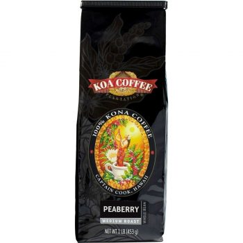 Peaberry Kona Coffee Whole Bean Medium Roast