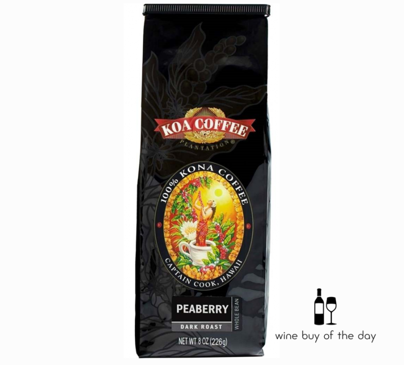 Koa Coffee Peaberry Dark Roast Kona Coffee Whole Bean