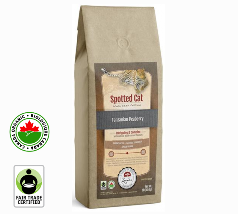 Zawadee Fair Trade Tanzanian Peaberry Organic Spotted Cat | 16oz