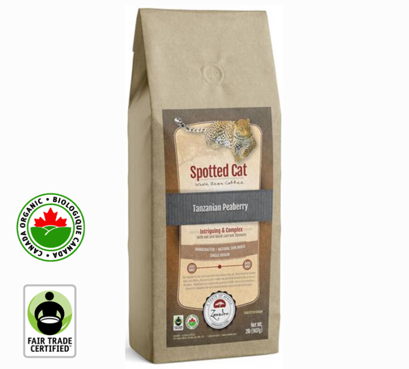 Zawadee Fair Trade Tanzanian Peaberry Organic Spotted Cat | 32oz
