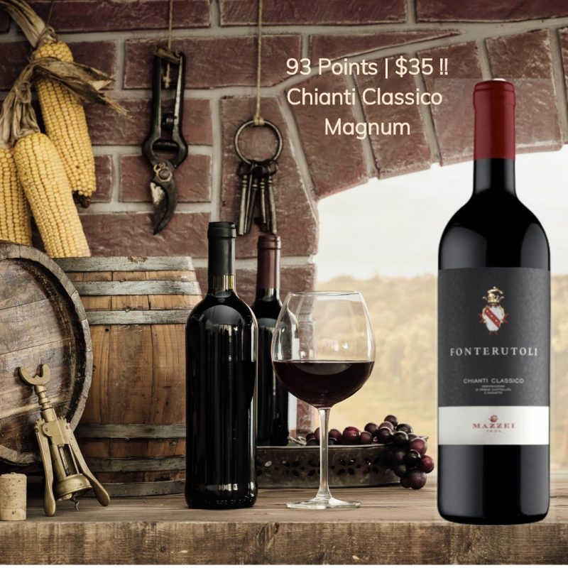 Fonterutoli Mazzei Chianti Classico 2015 | 1.5L | Classy Dinner Wine | Cellar Selection | Pairs with Red Sauces, Beef, Veal | Serve 60-65°F | Drink now thru 2028 | Philip Mazzei