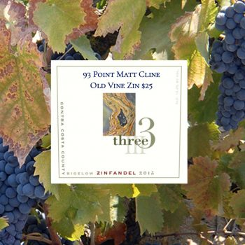 Three Wine Company Bigelow Zinfandel 2016